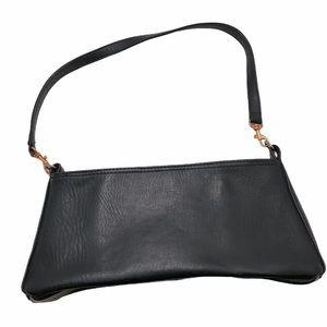 Coach Black Leather Shoulder Bag-FLAW